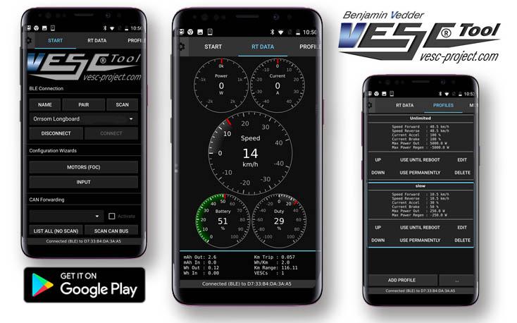 VESC-TOOL mobile